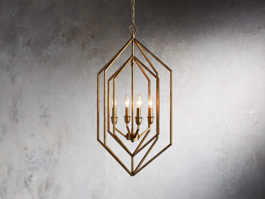 Hemisphere Prism Chandelier in Antiqued Brass, slide 1 of 7