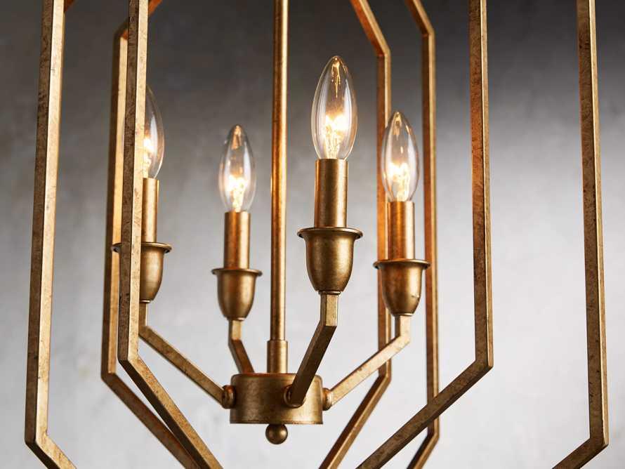 Hemisphere Prism Chandelier in Antiqued Brass