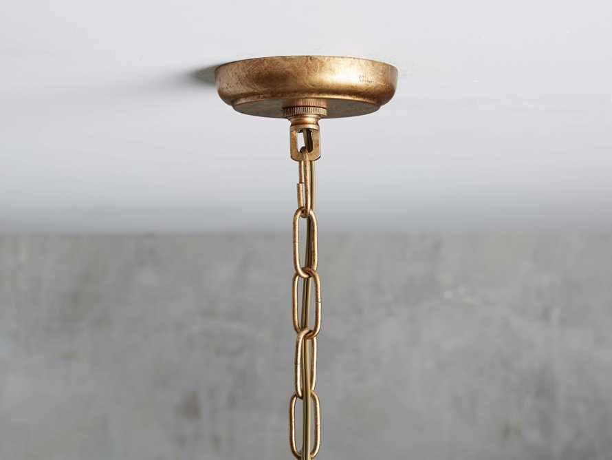 Hemisphere Prism Chandelier in Antiqued Brass, slide 3 of 7