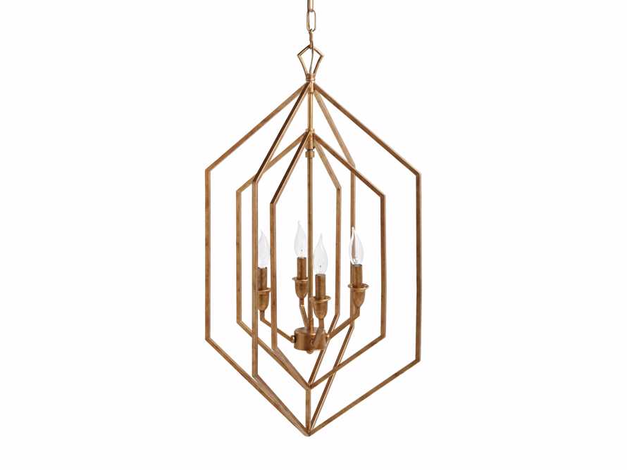 Hemisphere Prism Chandelier in Antiqued Brass, slide 7 of 7