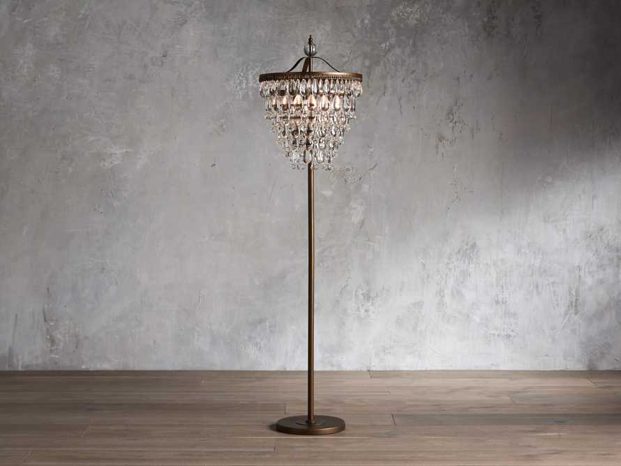Anabella Floor Lamp in Antique Gold, slide 1 of 4