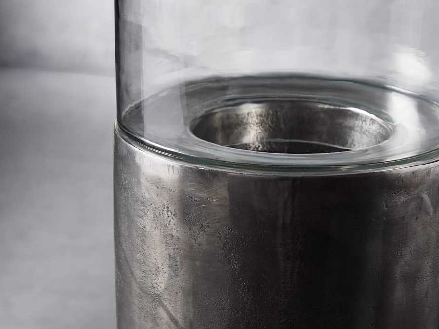 Dorian Small Distressed Silver Candle Stand