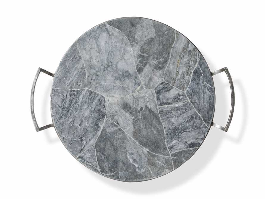 Petra Petrified Grey Marble Tray, slide 3 of 3
