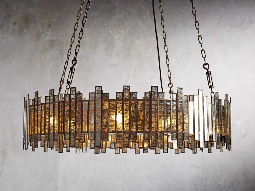 Laila Large Chandelier in Antique Copper, slide 1 of 6