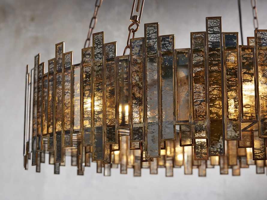 Laila Large Chandelier in Antique Copper, slide 2 of 6
