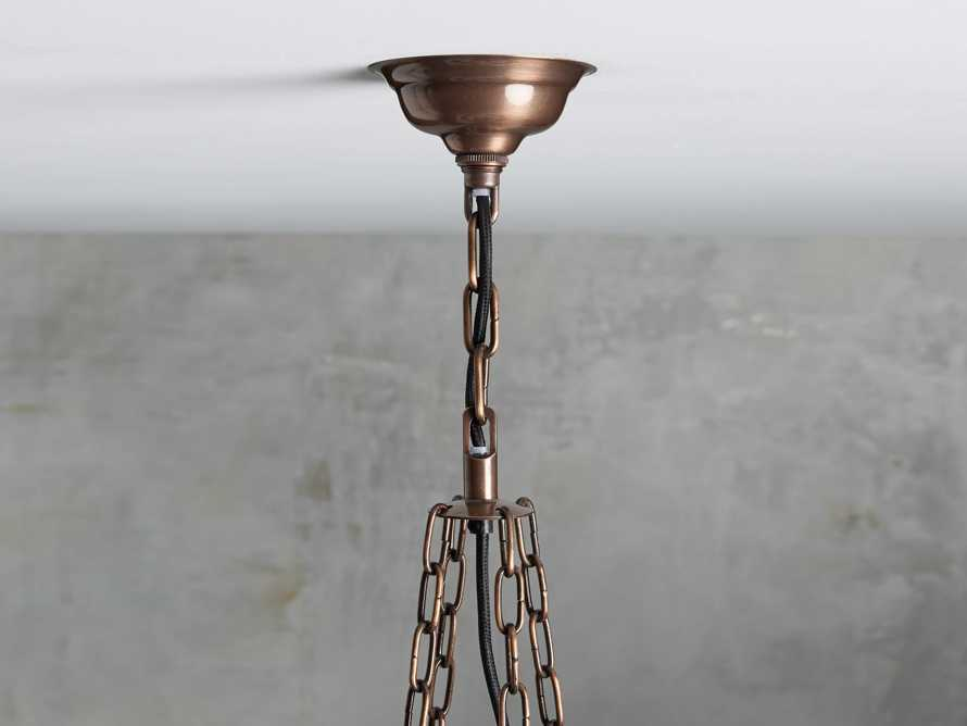 Laila Large Chandelier in Antique Copper, slide 3 of 6