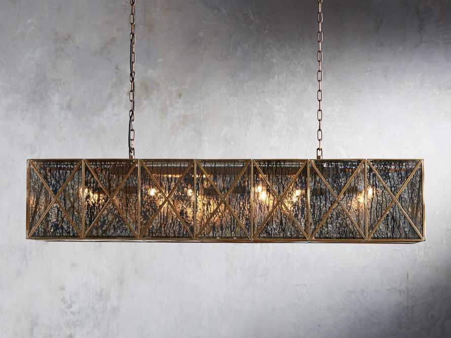 "Truss 49"" Rectangle Chandelier in Antique Copper, slide 1 of 2"