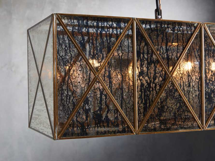 "Truss 49"" Rectangle Chandelier in Antique Copper, slide 2 of 2"