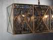 "Truss 49"" Rectangle Chandelier in Antique Copper"