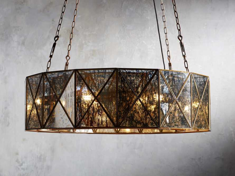 "Truss 36"" Round Chandelier in Antique Copper, slide 1 of 3"