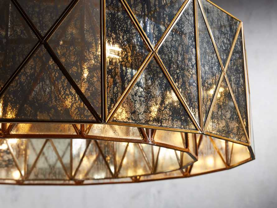 "Truss 36"" Round Chandelier in Antique Copper, slide 2 of 3"