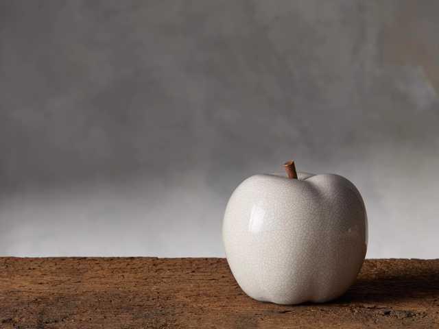 Classy White Ceramic Apple Decor