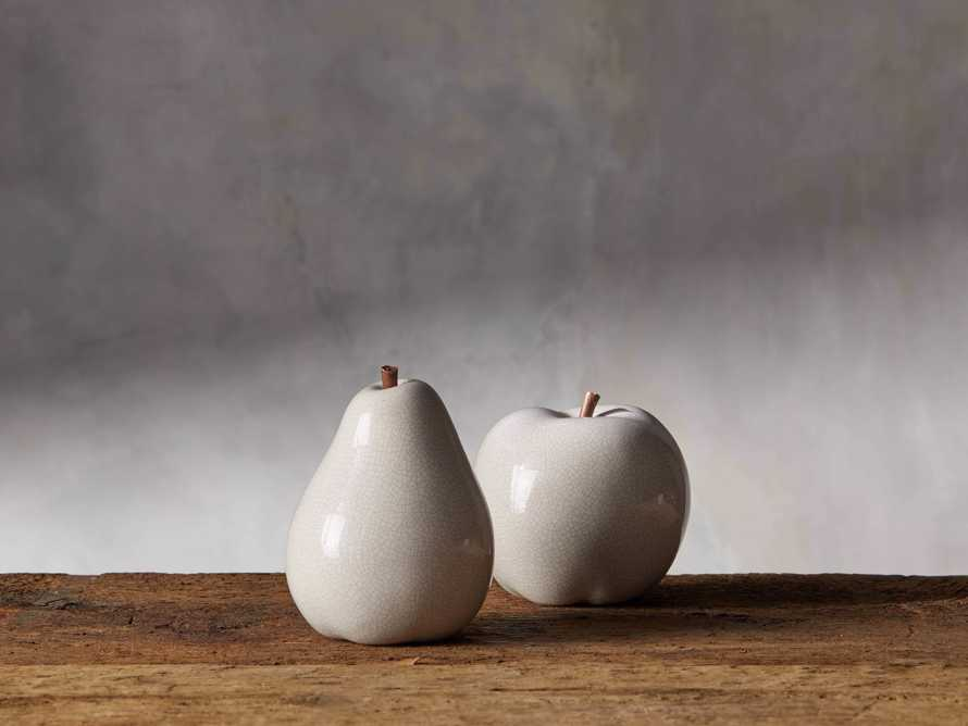 Ceramic Apple in White, slide 3 of 4
