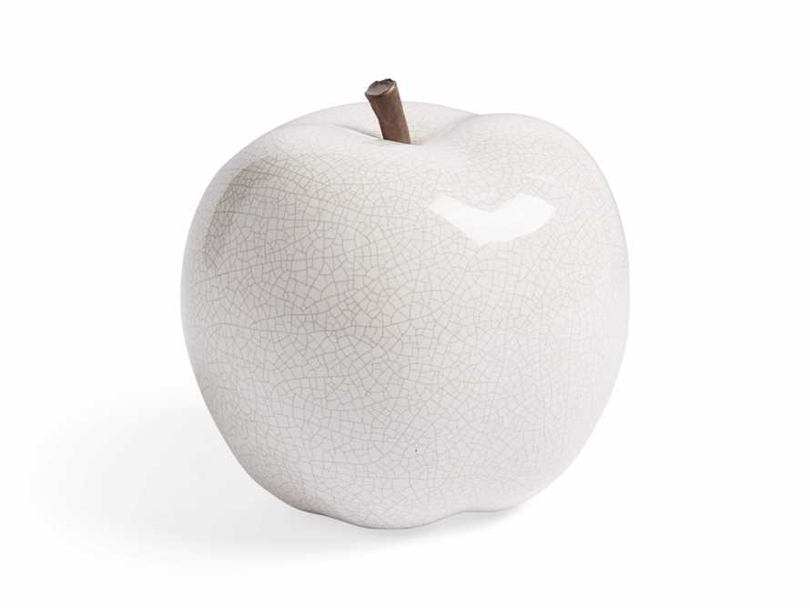 Ceramic Apple in White