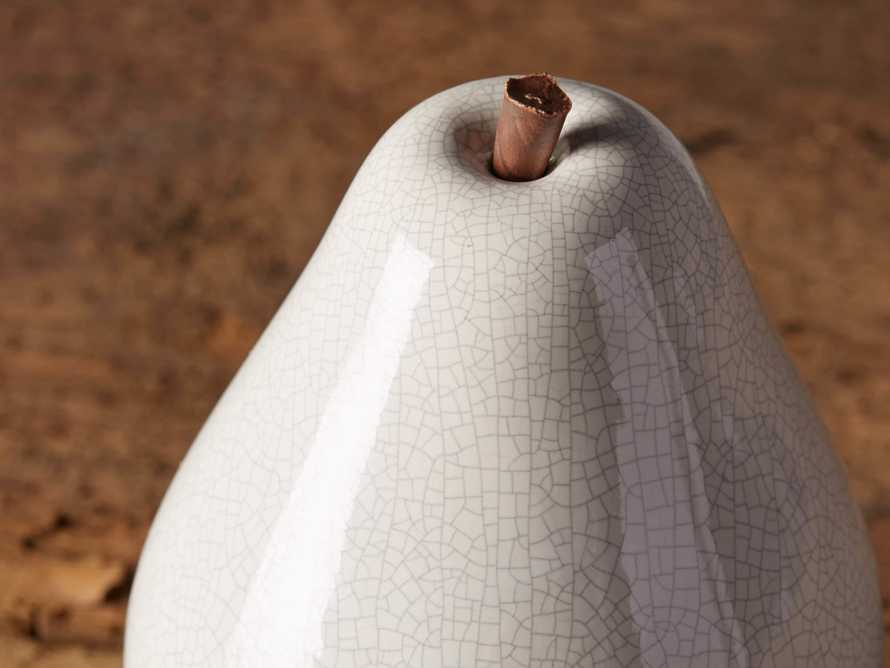 Ceramic Pear in White