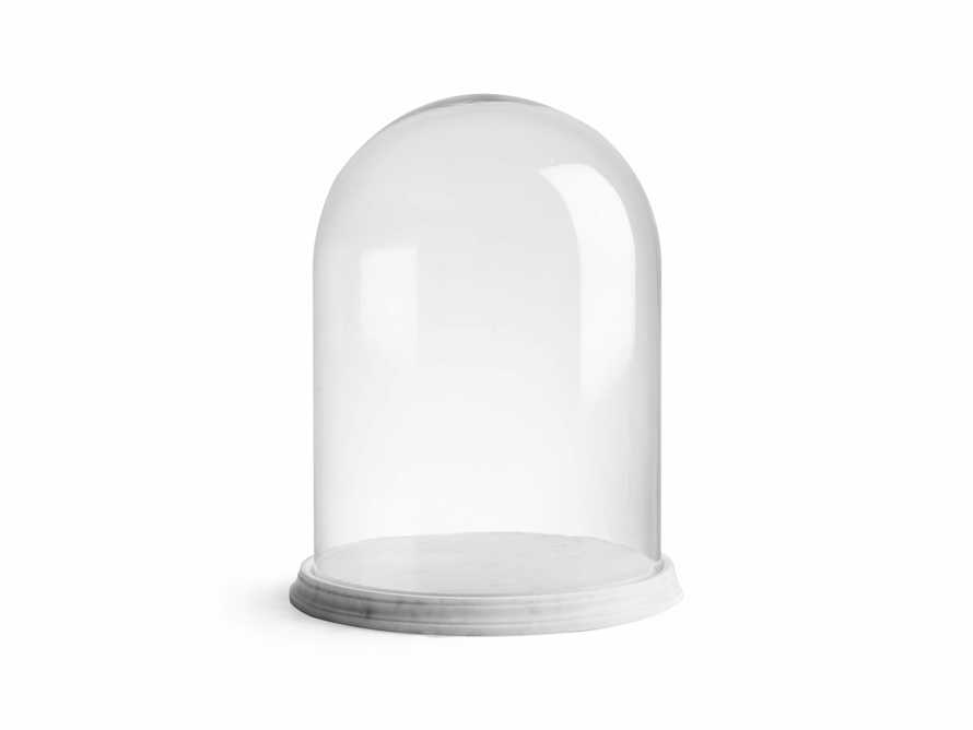 Altamura Small Glass Dome With Marble Base, slide 1 of 4