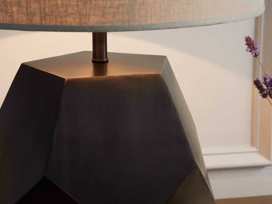 Bezier Pewter Table Lamp