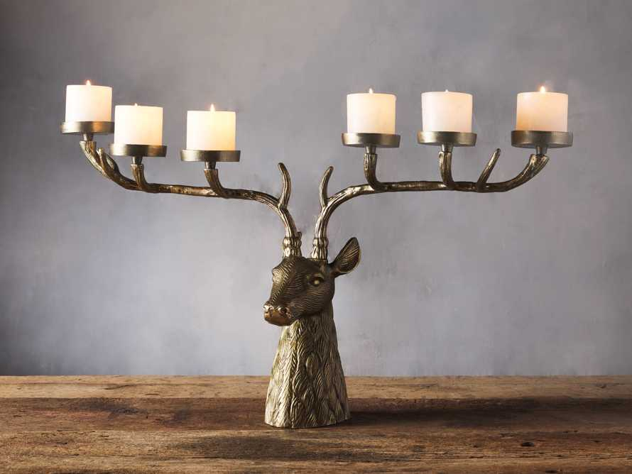 Stag Head Candle Holder, slide 1 of 2