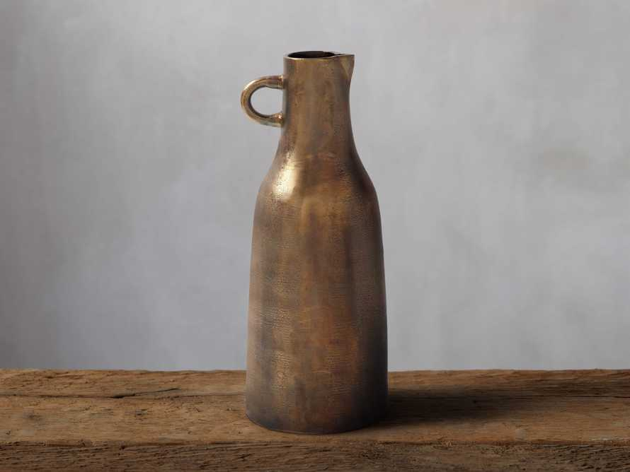 Taddeo Tall Jug in Antique Brass