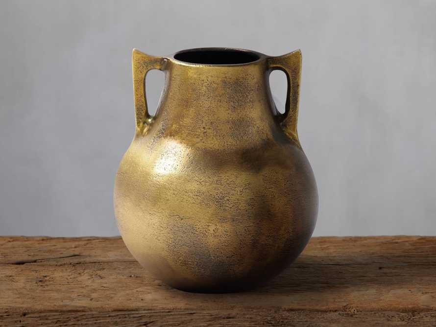 Taddeo Low Pot in Antique Brass, slide 1 of 8
