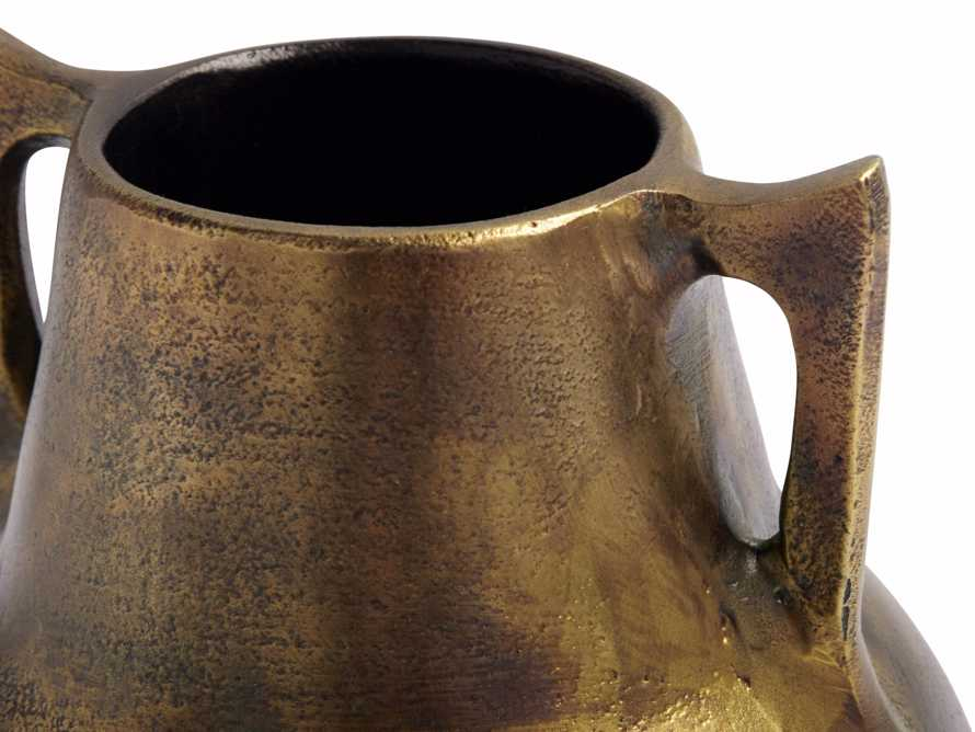 Taddeo Low Pot in Antique Brass, slide 2 of 8