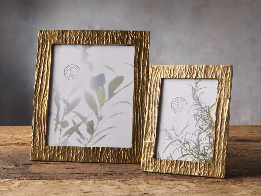 Antique Brass Wood Picture Frame 5x7, slide 2 of 2