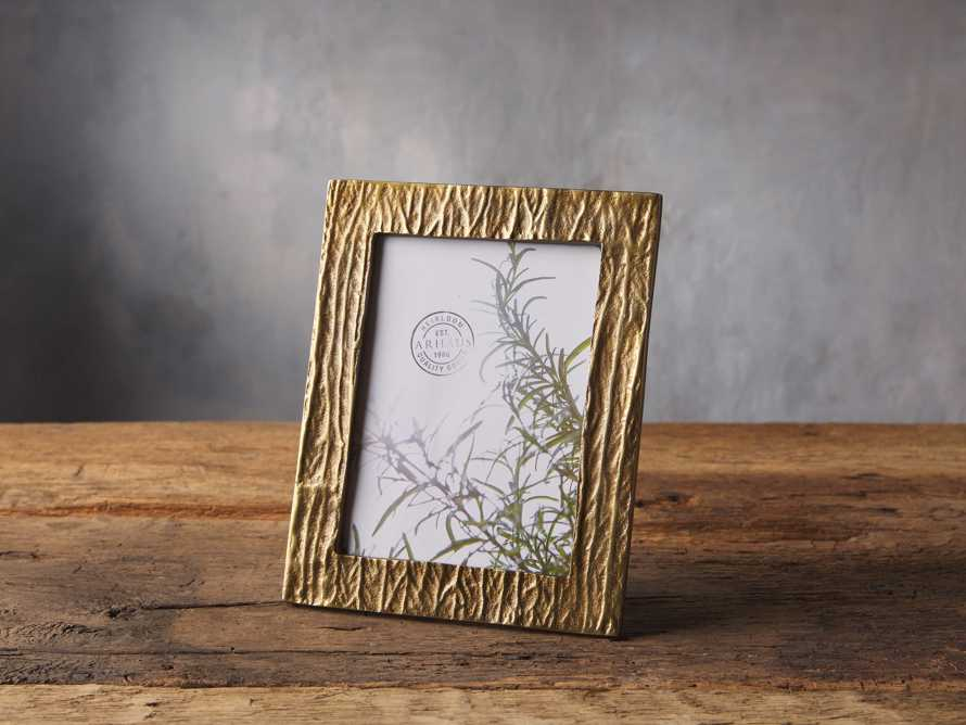 Antique Brass Wood Picture Frame 5x7, slide 1 of 2