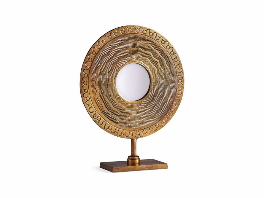 Brass Circle Table Mirror