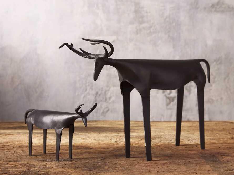 Large Rustic Iron Deer, slide 3 of 3