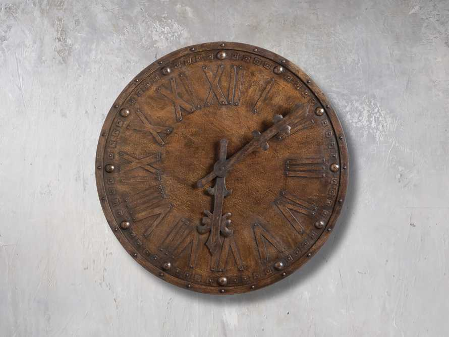 "Antique 39"" Iron Wall Clock, slide 3 of 3"