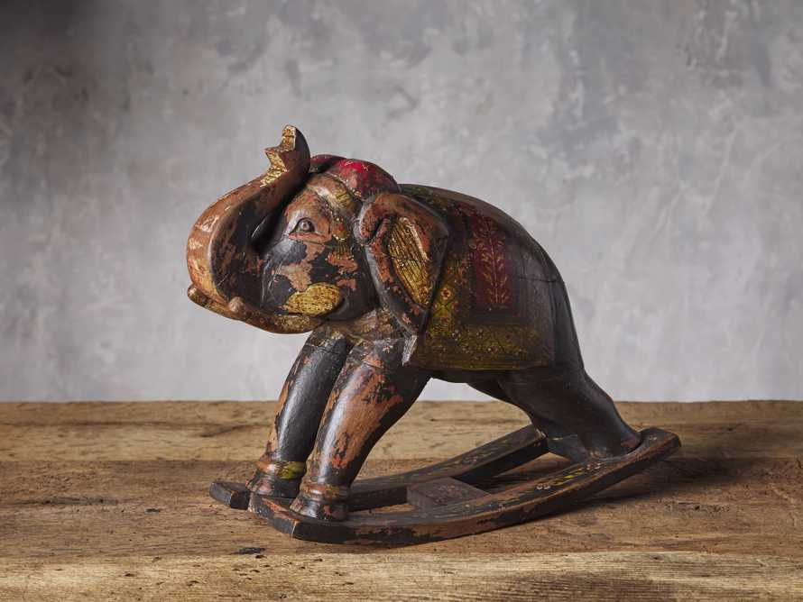 Wooden Rocking Elephant, slide 1 of 3