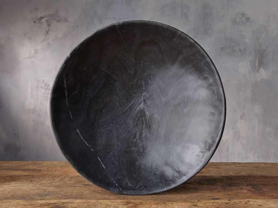 Round Marble Bowl in Black, slide 2 of 4