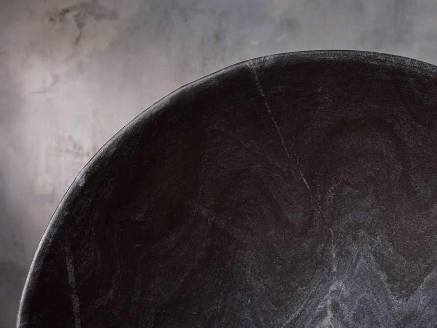 Round Marble Bowl in Black, slide 3 of 4