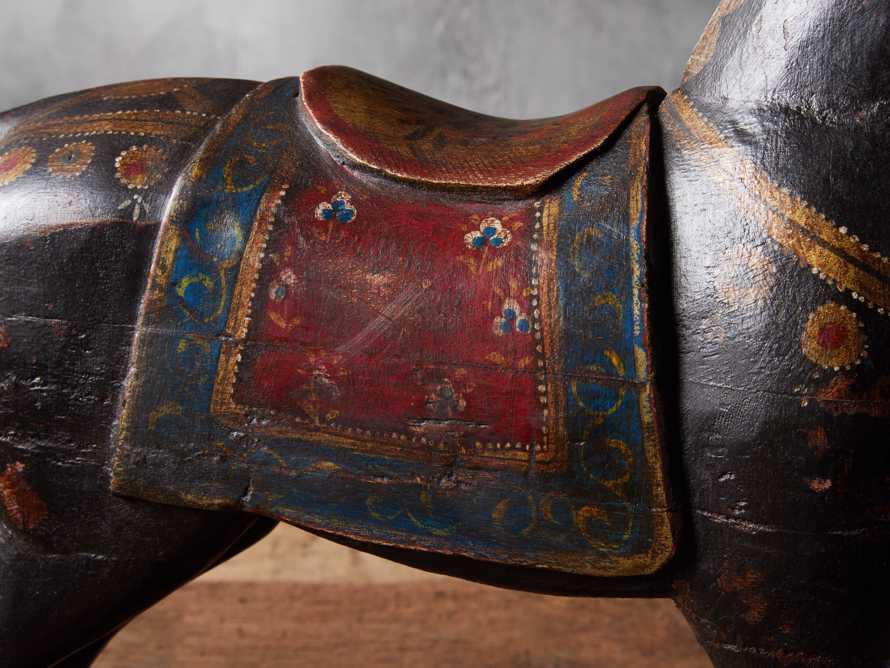 Antiqued Rocking Horse, slide 2 of 3