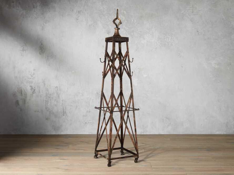 Antique Iron Tower Coat Rack