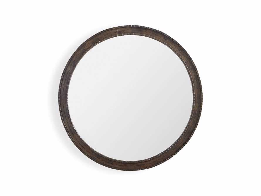 "GALILEO 30"" Iron Round Mirror"