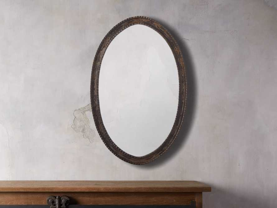 "Galileo 22"" Iron Oval Mirror"