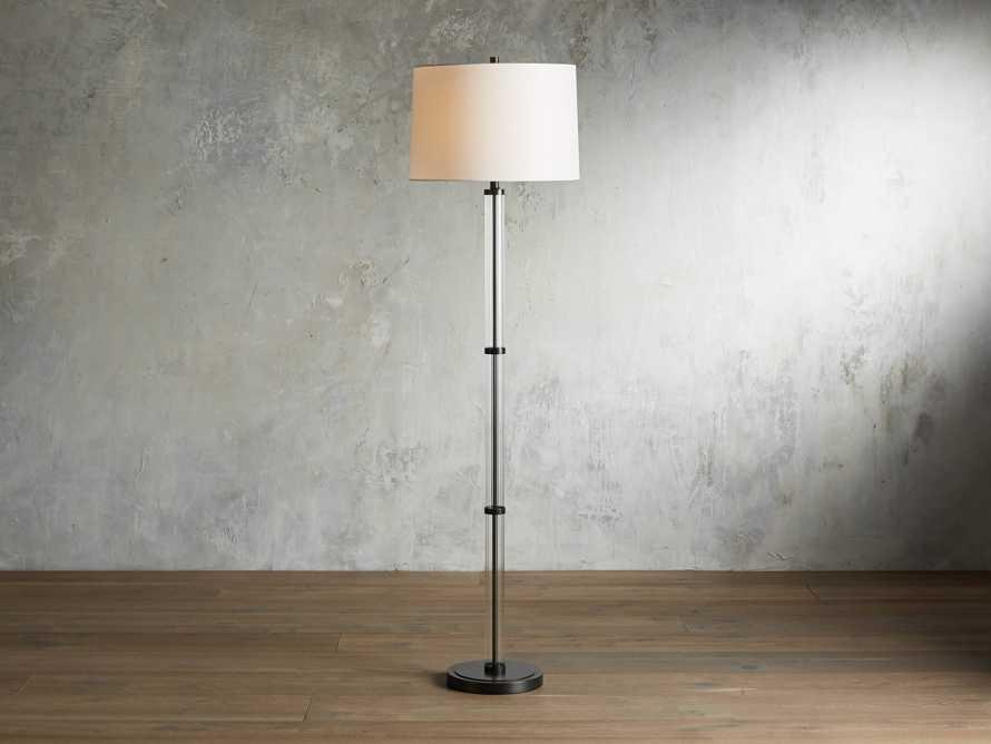 """Reeded 19"""" Glass Floor Lamp, slide 1 of 4"""