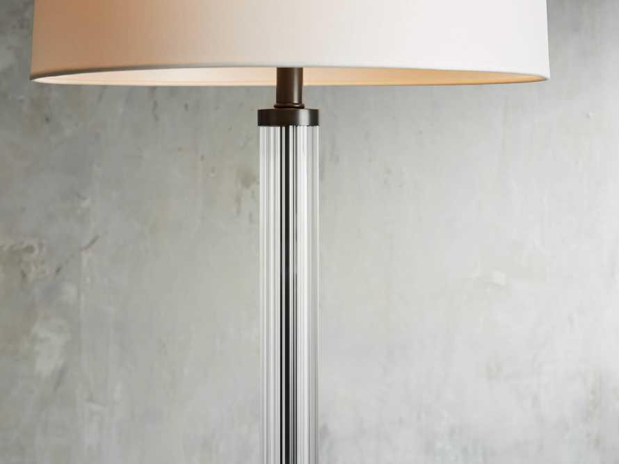 """Reeded 19"""" Glass Floor Lamp, slide 2 of 4"""