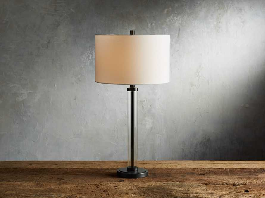 "Reeded 16"" Glass Table Lamp"