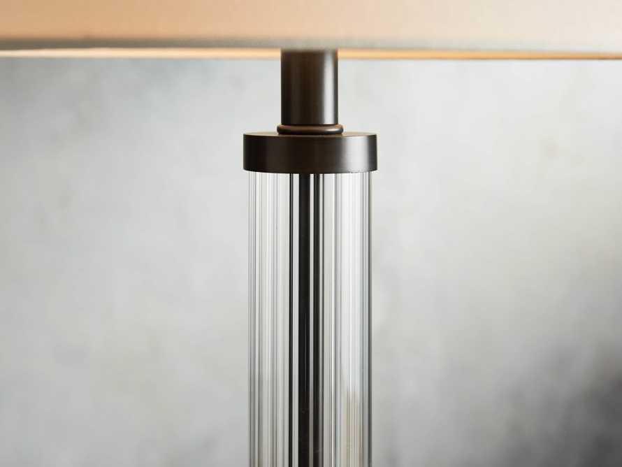 "Reeded 16"" Glass Table Lamp, slide 2 of 4"