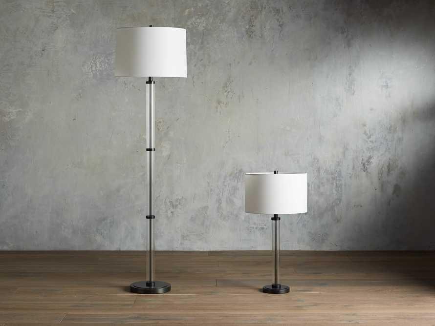 "Reeded 16"" Glass Table Lamp, slide 3 of 4"