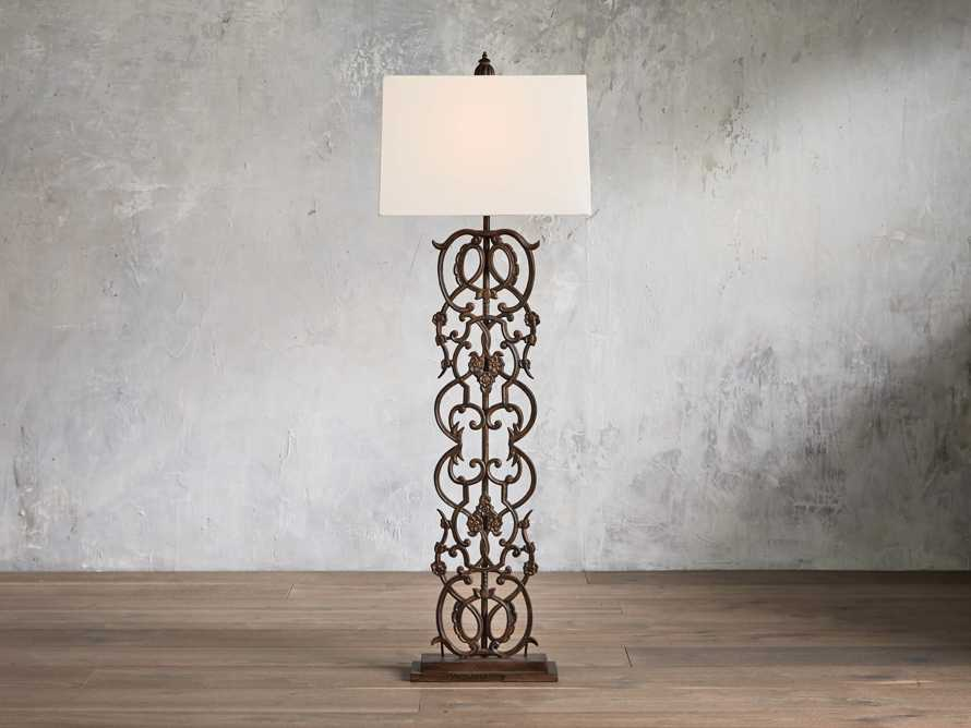 Fielding Floor Lamp In Rust - Come take a peek at more Arhaus French Vintage Timeless Furniture, Decor and Lighting on Hello Lovely Studio.