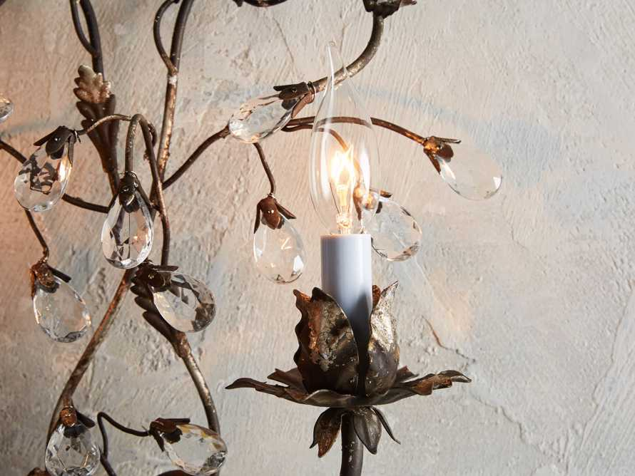 Claudette Iron Wall Sconce in Rustic Silver