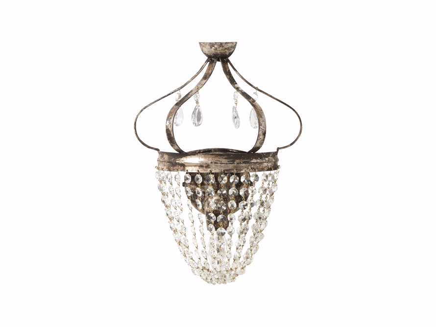 Fotini Iron Wall Sconce in Silver Clay