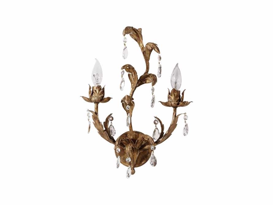 Lucrezia Iron Wall Sconce in Antique Gold