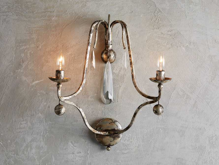 "Bonita 18"" Two Light Wall Sconce in Silver Clay, slide 1 of 3"
