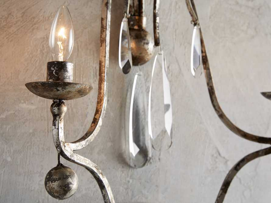 "Bonita 18"" Two Light Wall Sconce in Silver Clay, slide 2 of 3"