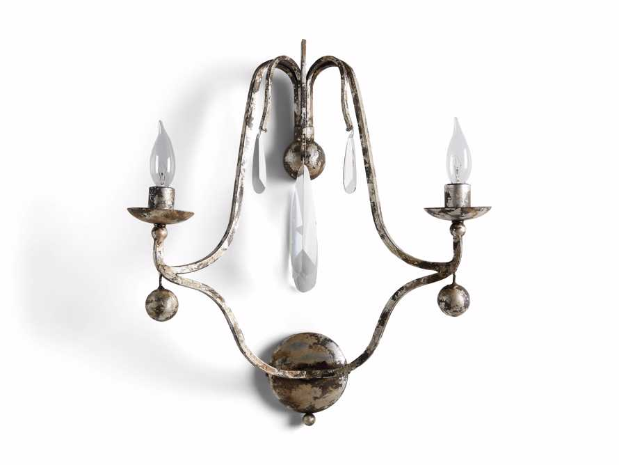 "Bonita 18"" Two Light Wall Sconce in Silver Clay, slide 3 of 3"