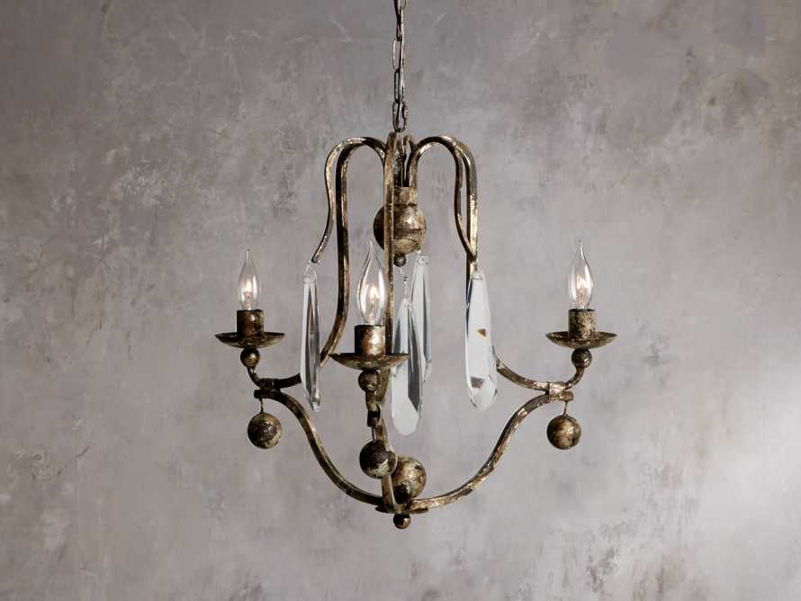 "Bonita 18"" Three Light Chandelier in Silver Clay, slide 2 of 5"